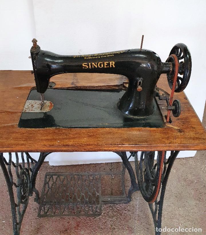 Antigüedades: ANTIGUA MAQUINA DE COSER SINGER - Foto 4 - 238538665