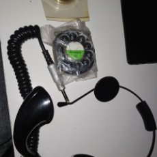 Telefones: AURICULAR DIADEMA CENTRAL DE TELEFONICA +REPUESTOS GÓNDOLA Y HERALDO. Lote 238578065