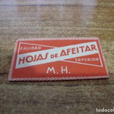 Antigüedades: FUNDA DE AFEITAR CON HOJA CUCHILLA M. H.. Lote 238753715