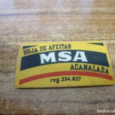 Antigüedades: FUNDA DE AFEITAR CON HOJA CUCHILLA MSA. Lote 238754045
