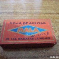 Antigüedades: PAQUETE 10 HOJAS CUCHILLA DE AFEITAR MALA. Lote 238763630