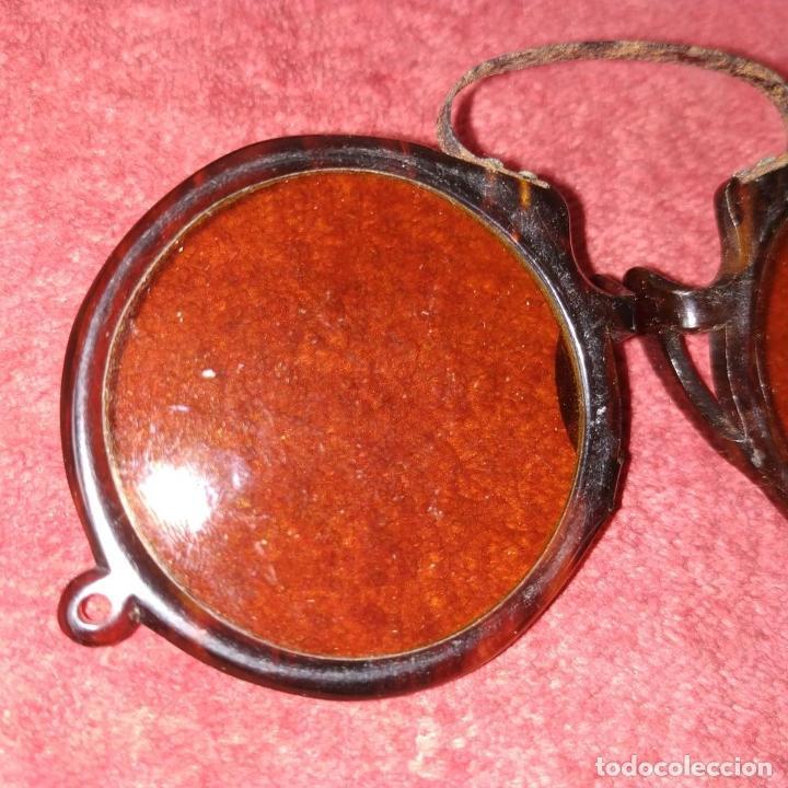 Antigüedades: GAFAS. DE SOL Y DE AUMENTOS. METAL. CELULOIDE SÍMIL CAREY. ESPAÑA SIGLO XIX-XX - Foto 4 - 238764625
