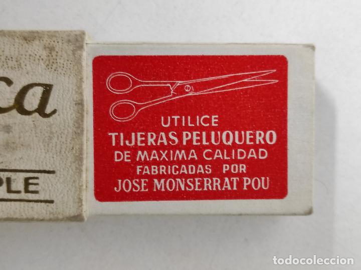 Antigüedades: Navaja de Afeitar Filarmónica 14, Doble Temple - José Montserrat Pou - con Caja Original - Foto 12 - 239016995
