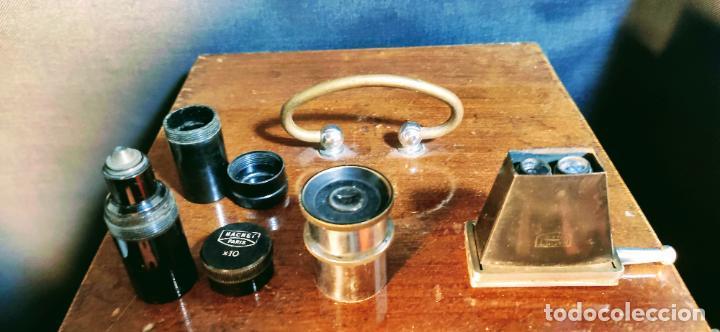 Antigüedades: INTERESANTE MICROSCOPIO MARCA NACHET, PARIS - Foto 10 - 239416005
