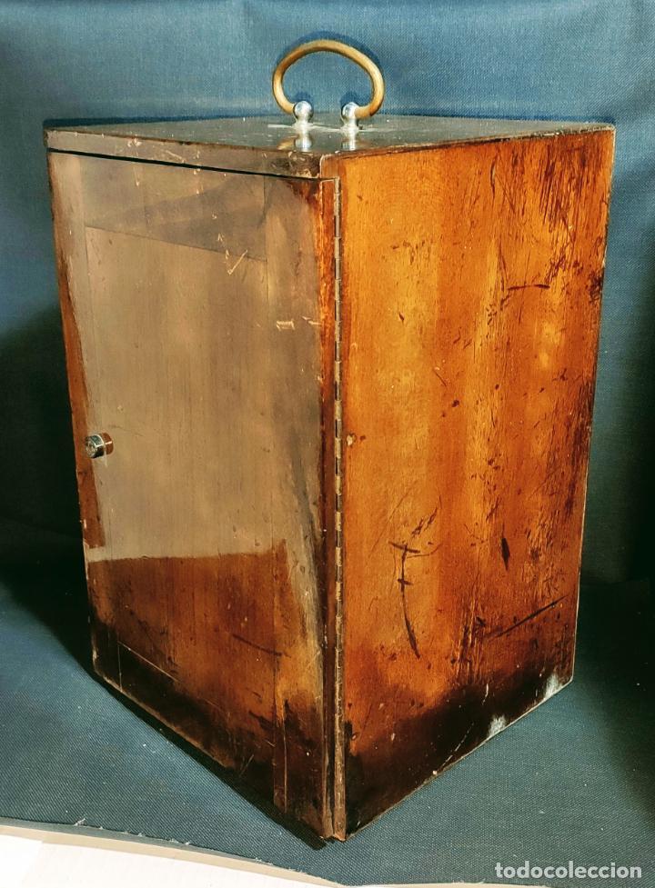 Antigüedades: INTERESANTE MICROSCOPIO MARCA NACHET, PARIS - Foto 11 - 239416005