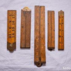 Antigüedades: LOTE DE REGLAS ANTIGUAS COLECCIONISMO. Lote 239587270