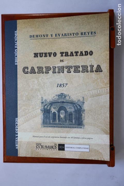NUEVO TRATADO DE CARPINTERÍA (1857) ILUSTRADO CON 40 LÁMINAS. 22 X 29 CM. MADERA EBANISTERÍA MUEBLES (Antigüedades - Técnicas - Herramientas Profesionales - Carpintería )
