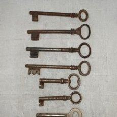 Antigüedades: LOTE DE 8 LLAVES ANTIGUAS. C33. Lote 240159455