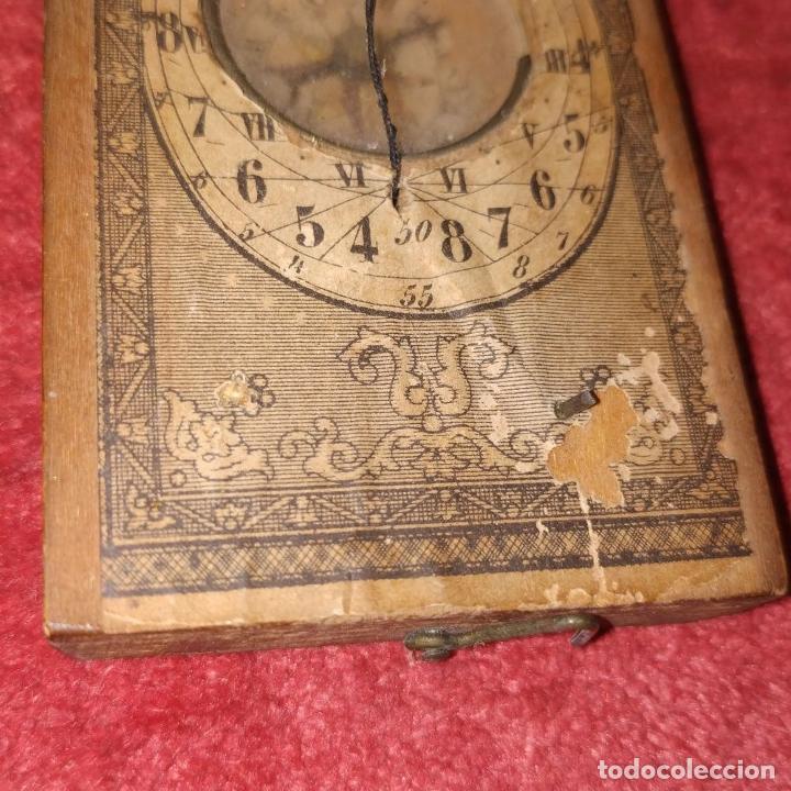 Antigüedades: BRÚJULA RELOJ DE SOL PORTÁTIL. MADERA, CRISTAL, PAPEL. INGLATERRA (?) XVIII-XIX - Foto 5 - 240224565