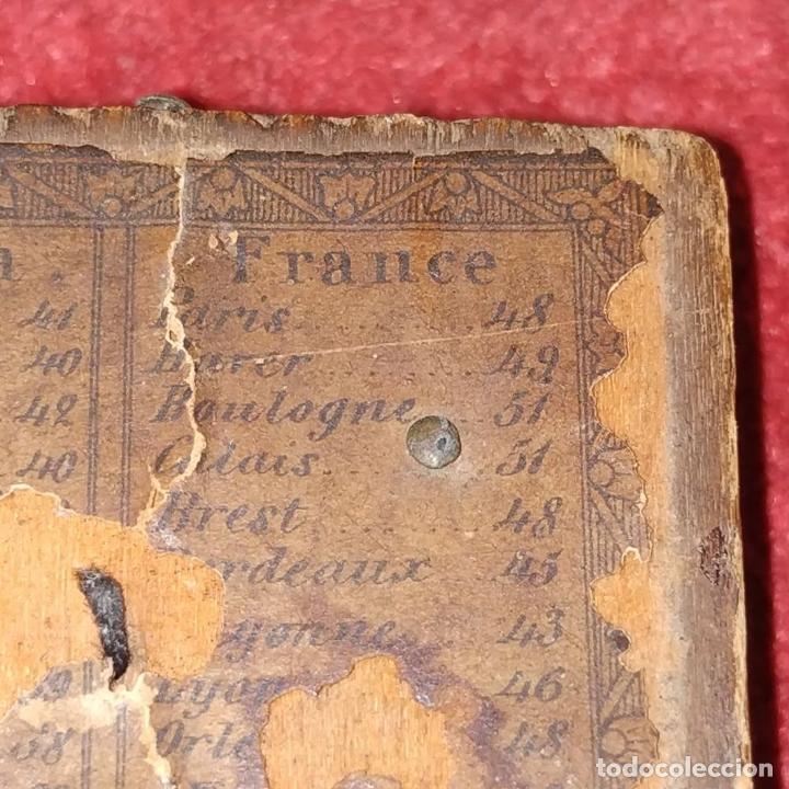 Antigüedades: BRÚJULA RELOJ DE SOL PORTÁTIL. MADERA, CRISTAL, PAPEL. INGLATERRA (?) XVIII-XIX - Foto 6 - 240224565