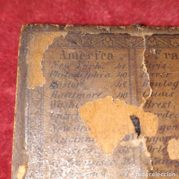 Antigüedades: BRÚJULA RELOJ DE SOL PORTÁTIL. MADERA, CRISTAL, PAPEL. INGLATERRA (?) XVIII-XIX - Foto 7 - 240224565
