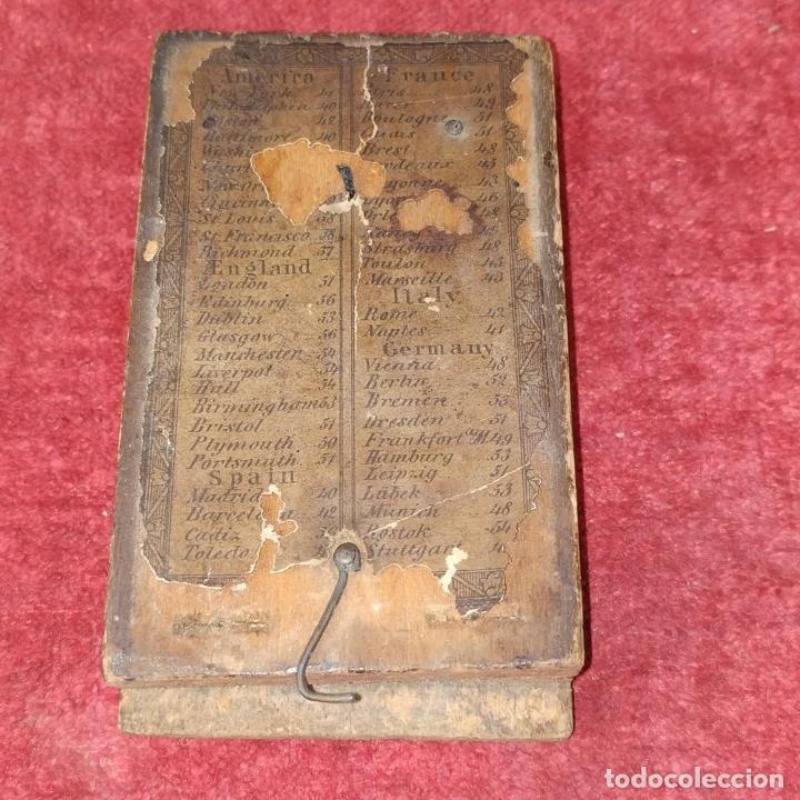 Antigüedades: BRÚJULA RELOJ DE SOL PORTÁTIL. MADERA, CRISTAL, PAPEL. INGLATERRA (?) XVIII-XIX - Foto 11 - 240224565
