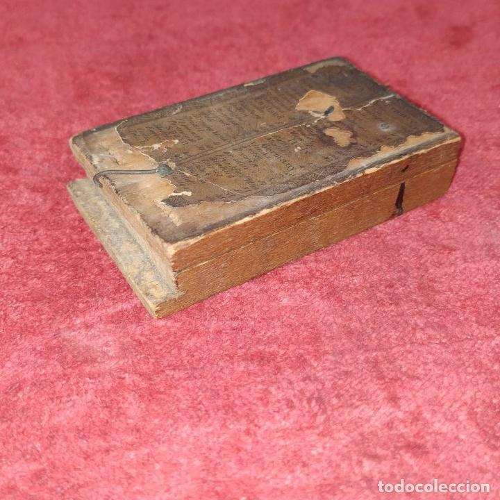 Antigüedades: BRÚJULA RELOJ DE SOL PORTÁTIL. MADERA, CRISTAL, PAPEL. INGLATERRA (?) XVIII-XIX - Foto 13 - 240224565