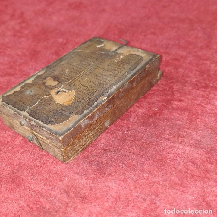 Antigüedades: BRÚJULA RELOJ DE SOL PORTÁTIL. MADERA, CRISTAL, PAPEL. INGLATERRA (?) XVIII-XIX - Foto 14 - 240224565