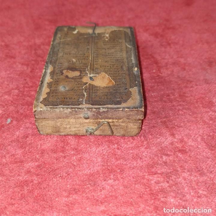 Antigüedades: BRÚJULA RELOJ DE SOL PORTÁTIL. MADERA, CRISTAL, PAPEL. INGLATERRA (?) XVIII-XIX - Foto 15 - 240224565