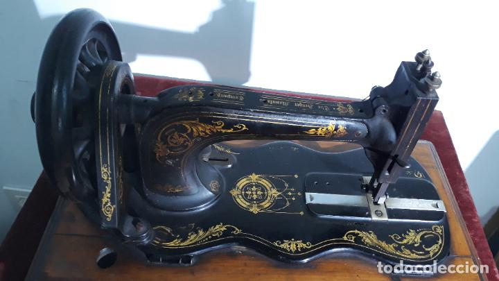 Antigüedades: magnifica singer base de violin ,maquina de coser,coleccion privada,siglo xix - Foto 3 - 240261755