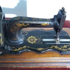 Antigüedades: MAGNIFICA SINGER BASE DE VIOLIN ,MAQUINA DE COSER,COLECCION PRIVADA,SIGLO XIX. Lote 240261755