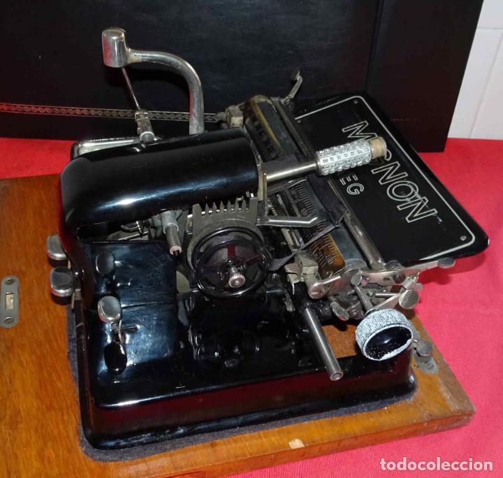 Antigüedades: Máquina de escribir MIGNON nº 4, c1925, con estuche de madera - Foto 6 - 240426025