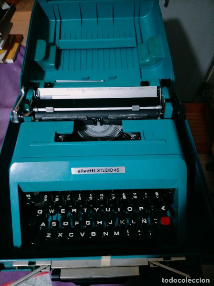 OLIVETTI STUDIO 45 MAQUINA DE ESCRIBIR MALETIN Y FUNDA (Antigüedades - Técnicas - Máquinas de Escribir Antiguas - Olivetti)