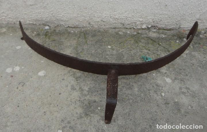 Antigüedades: Morillo antiguo de forja para chimenea referencia 5 - Foto 2 - 240931080
