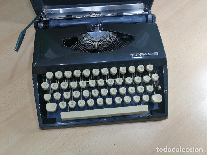 Antigüedades: Máquina de escribir portatil TRIUMF model Tippa, MUY BOTITA, FUNCIONANDO - Foto 3 - 240955430