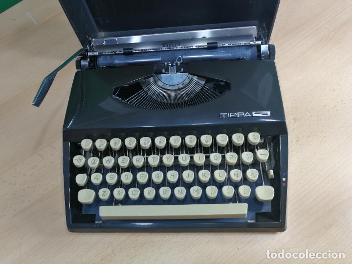 Antigüedades: Máquina de escribir portatil TRIUMF model Tippa, MUY BOTITA, FUNCIONANDO - Foto 4 - 240955430