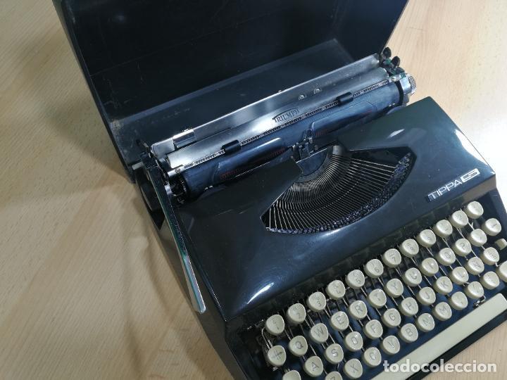 Antigüedades: Máquina de escribir portatil TRIUMF model Tippa, MUY BOTITA, FUNCIONANDO - Foto 5 - 240955430