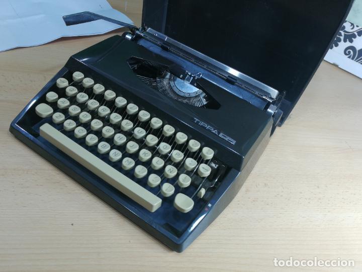 Antigüedades: Máquina de escribir portatil TRIUMF model Tippa, MUY BOTITA, FUNCIONANDO - Foto 17 - 240955430
