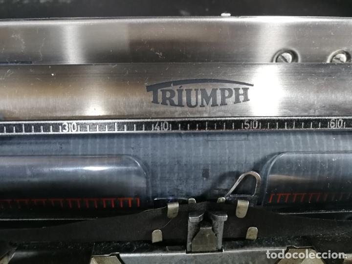 Antigüedades: Máquina de escribir portatil TRIUMF model Tippa, MUY BOTITA, FUNCIONANDO - Foto 20 - 240955430