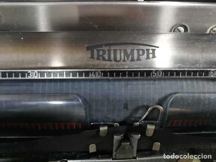 Antigüedades: Máquina de escribir portatil TRIUMF model Tippa, MUY BOTITA, FUNCIONANDO - Foto 21 - 240955430
