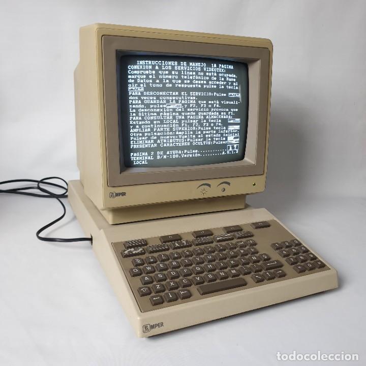 ORDENADOR AMPER TELEFÓNICA AÑOS 80, ACCESO IBERTEX, SIMILAR A VIDEOTEX Y MINITEL (Antigüedades - Técnicas - Ordenadores hasta 16 bits (anteriores a 1982))