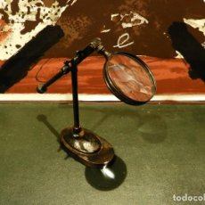 Antigüedades: LUPA DE SOBREMESA DE HIERRO. Lote 261665695