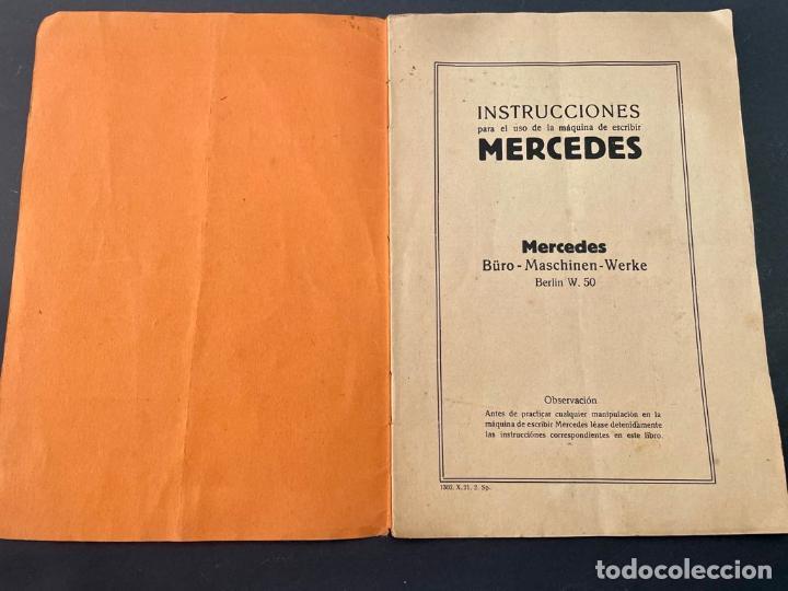 Antigüedades: MANUAL INSTRUCCIONES MAQUINA DE ESCRIBIR MERCEDES - Foto 2 - 241293635