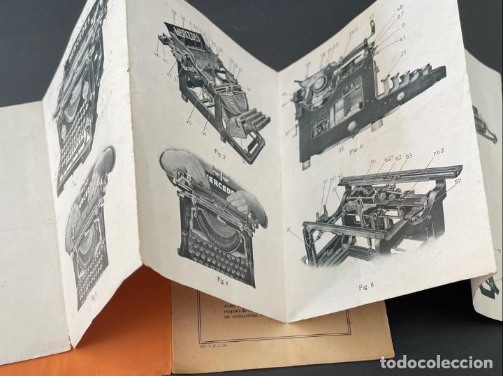 Antigüedades: MANUAL INSTRUCCIONES MAQUINA DE ESCRIBIR MERCEDES - Foto 3 - 241293635