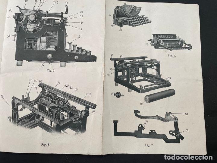 Antigüedades: MANUAL INSTRUCCIONES MAQUINA DE ESCRIBIR MERCEDES - Foto 4 - 241293635
