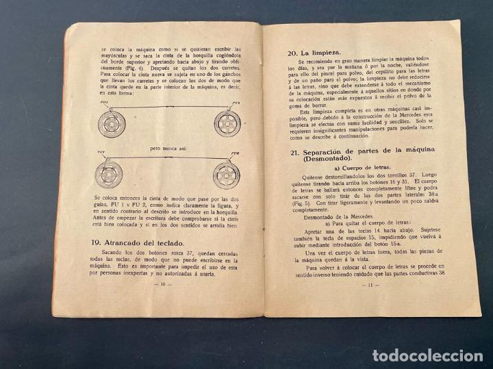 Antigüedades: MANUAL INSTRUCCIONES MAQUINA DE ESCRIBIR MERCEDES - Foto 7 - 241293635