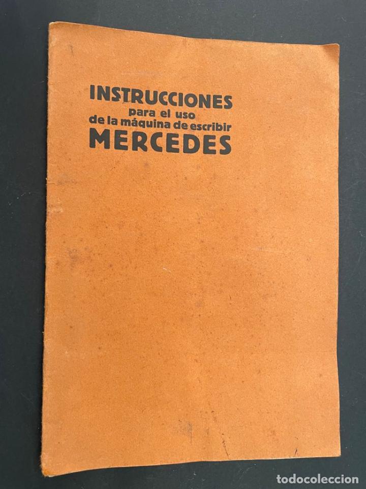 MANUAL INSTRUCCIONES MAQUINA DE ESCRIBIR MERCEDES (Antigüedades - Técnicas - Máquinas de Escribir Antiguas - Mercedes)