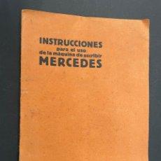 Antigüedades: MANUAL INSTRUCCIONES MAQUINA DE ESCRIBIR MERCEDES. Lote 241293635