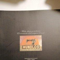 Antigüedades: MÁQUINAS DE COSER 1850- 1930 MUNDLOS COLECCIÓN EMILIO CANO. Lote 241316065