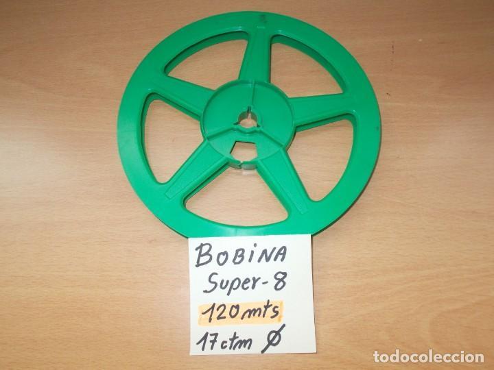 ENVIO CON TC: 3€ BOBINA VACIA SIN CAJA SUPER8 DE 120 METROS. (Antigüedades - Técnicas - Aparatos de Cine Antiguo - Proyectores Antiguos)
