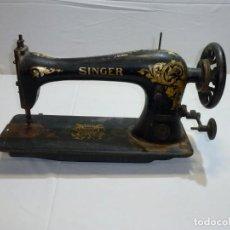 Oggetti Antichi: CABEZAL DE MÁQUINA DE COSER SINGER, PARA DECORAR.MAS GRANDE DE LO COMUN.54 CM.. Lote 241699095
