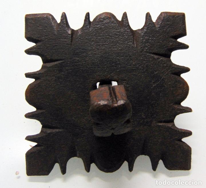 ANTIGUO CLAVO CINCELADO, GRANDE Y GRUESO, FORJA, DE PICO A PICO 12,5 CM (Antigüedades - Técnicas - Cerrajería y Forja - Clavos Antiguos)