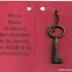 Antigüedades: ANTIGUA LLAVE DE LA SALUD Y DE LA SUERTE VER FOTOS. Lote 241952135