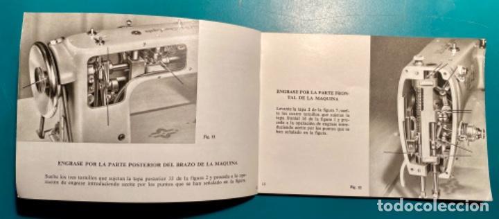 Antigüedades: LIBRITO INSTRUCCIONES PARA SU USO DE LA MÁQUINA DE COSER ALFA, MODELO 100 AÑO 1967 - Foto 5 - 241953640