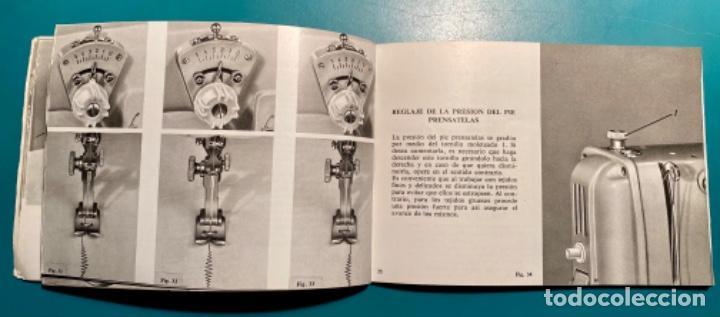Antigüedades: LIBRITO INSTRUCCIONES PARA SU USO DE LA MÁQUINA DE COSER ALFA, MODELO 100 AÑO 1967 - Foto 6 - 241953640