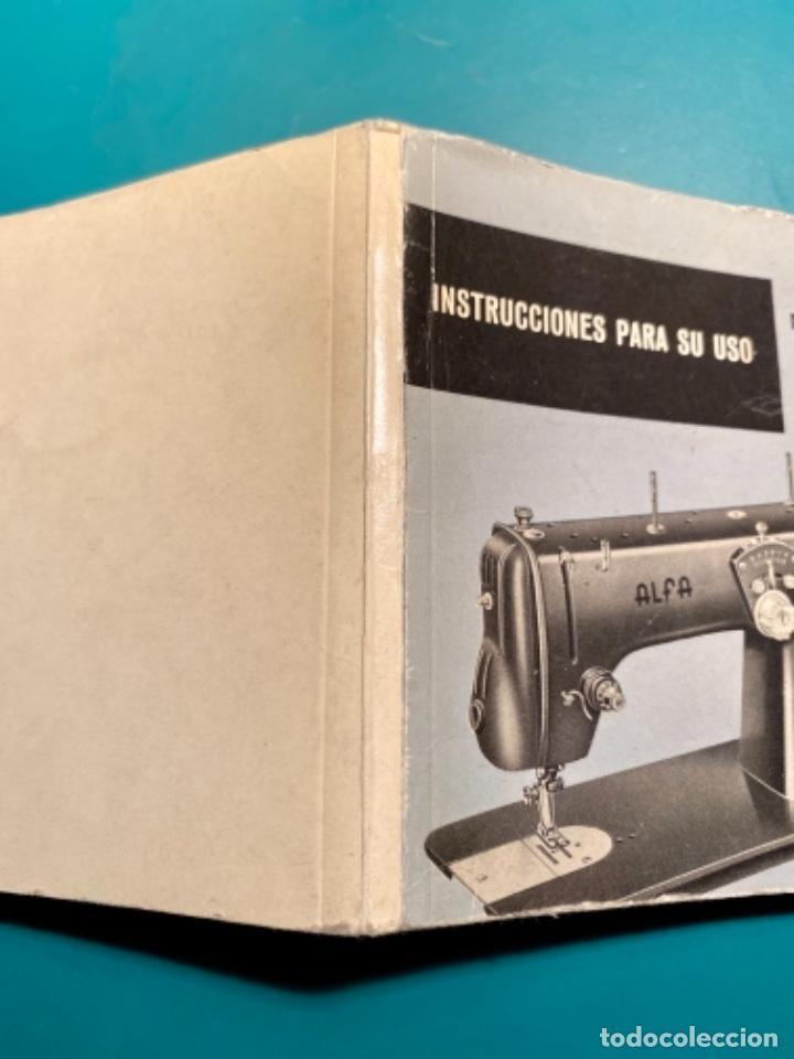 Antigüedades: LIBRITO INSTRUCCIONES PARA SU USO DE LA MÁQUINA DE COSER ALFA, MODELO 100 AÑO 1967 - Foto 8 - 241953640