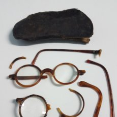 Antigüedades: FUNDA GAFAS 3 CRITALES Y MONTURAS. Lote 241996775