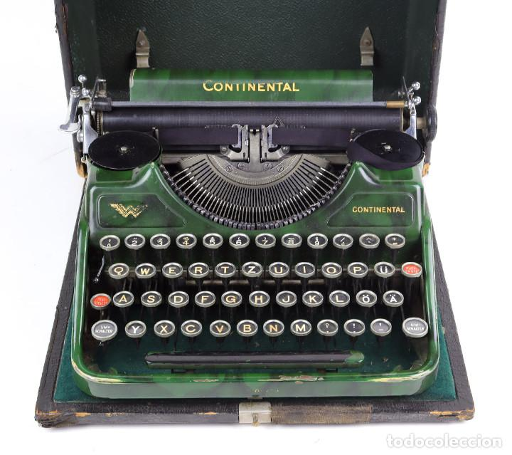 MÁQUINA DE ESCRIBIR PORTÁTIL CONTINENTAL (1937) (Antigüedades - Técnicas - Máquinas de Escribir Antiguas - Continental)