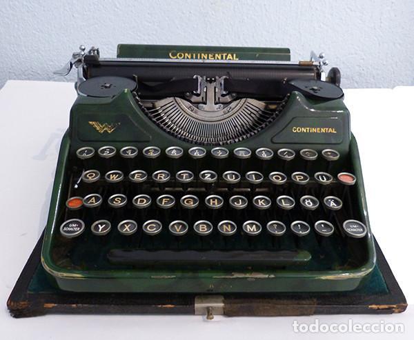 Antigüedades: Máquina de escribir portátil Continental (1937) - Foto 2 - 242112300