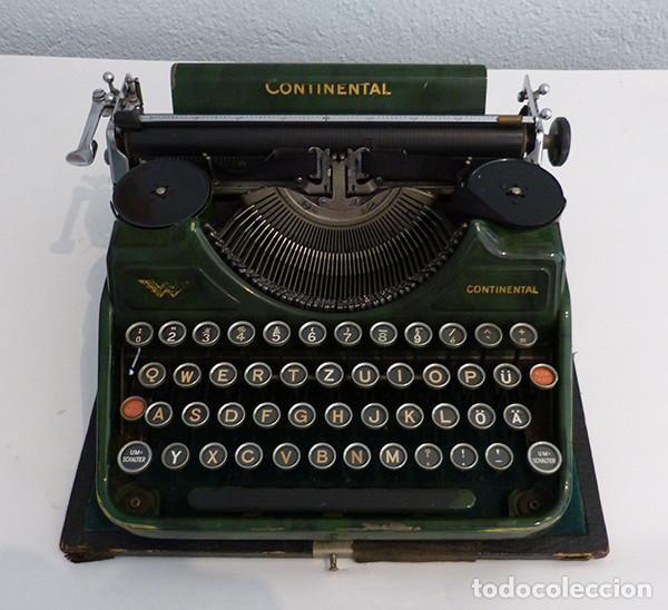 Antigüedades: Máquina de escribir portátil Continental (1937) - Foto 3 - 242112300